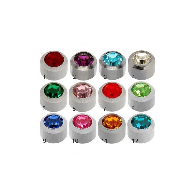 Caflon® sterile colorful earrings (Silver)