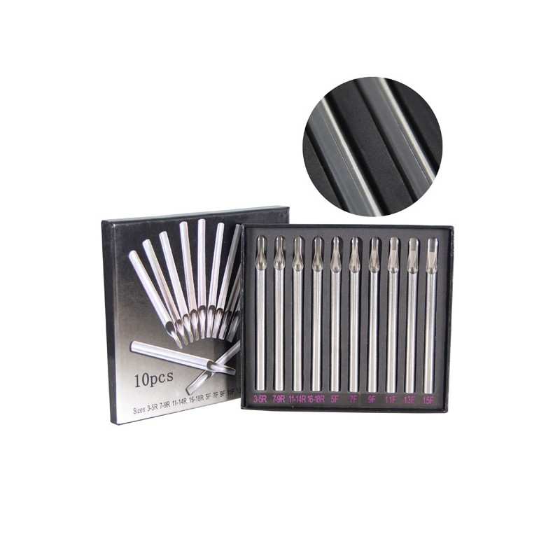 Double arc Tattoo Stainless Steel Tips (10pcs.)