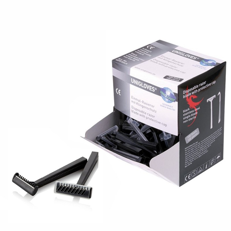 Unigloves Disposable Razor Black (100 psc.)
