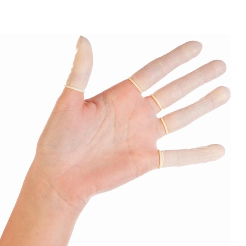 Latex - finger cots S-M-L (100 psc)