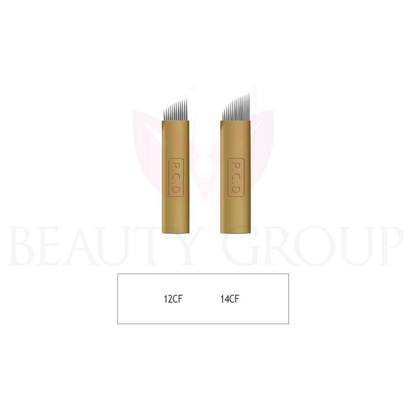 Biomaser Microblading 12 - 14 CF needle (gold - hard) 1 pcs.