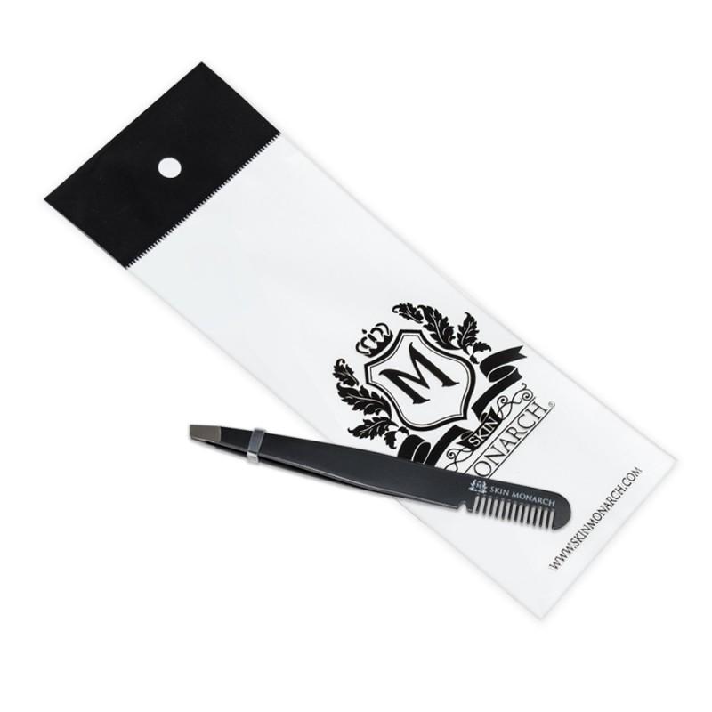 Skin Monarch tweezers with comb 10 cm (1pcs.)