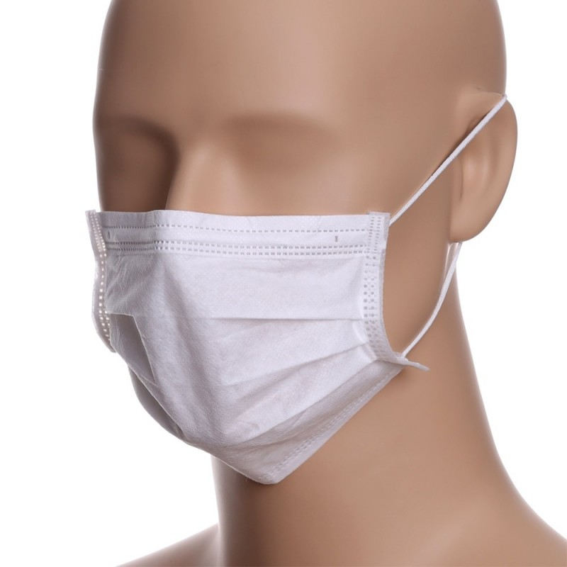In Stock Disposable Face Masks - 3 layers (20pcs.) white