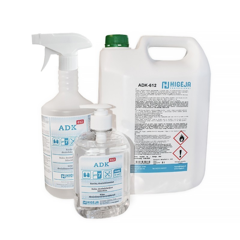 Hand disinfectant ADK-612 (500ml / 1l / 5l.)