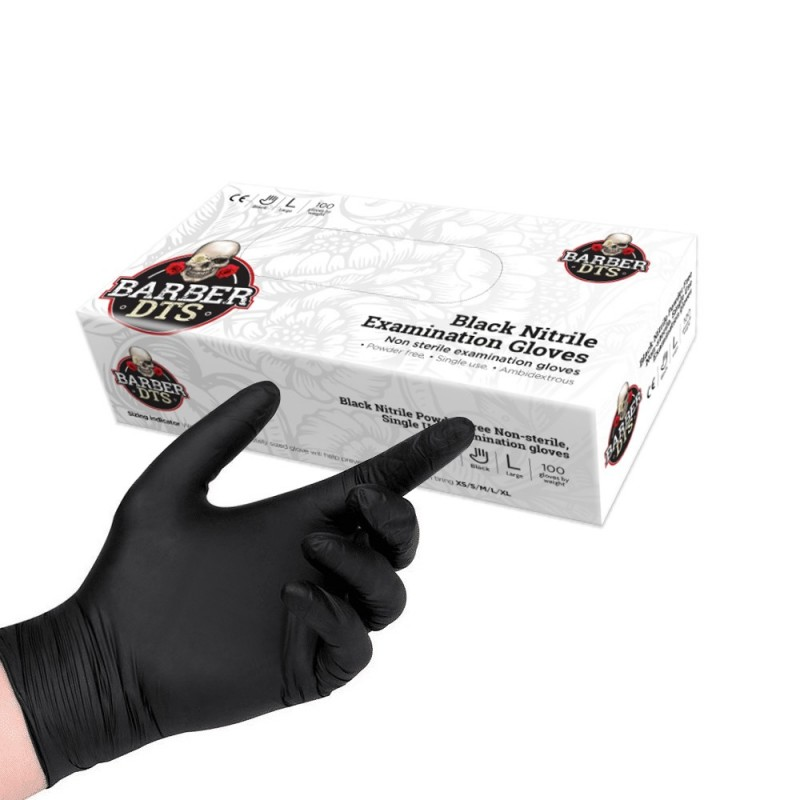 Black nitrile examination gloves 100pcs. (M -L)