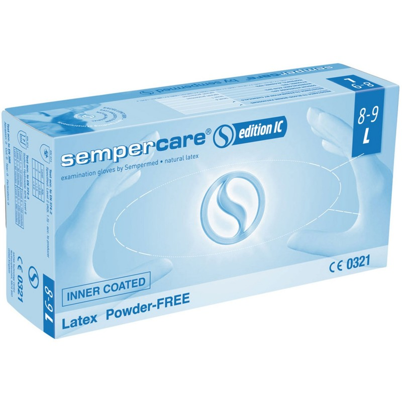 Latex Powder Free gloves Sempercare (L)