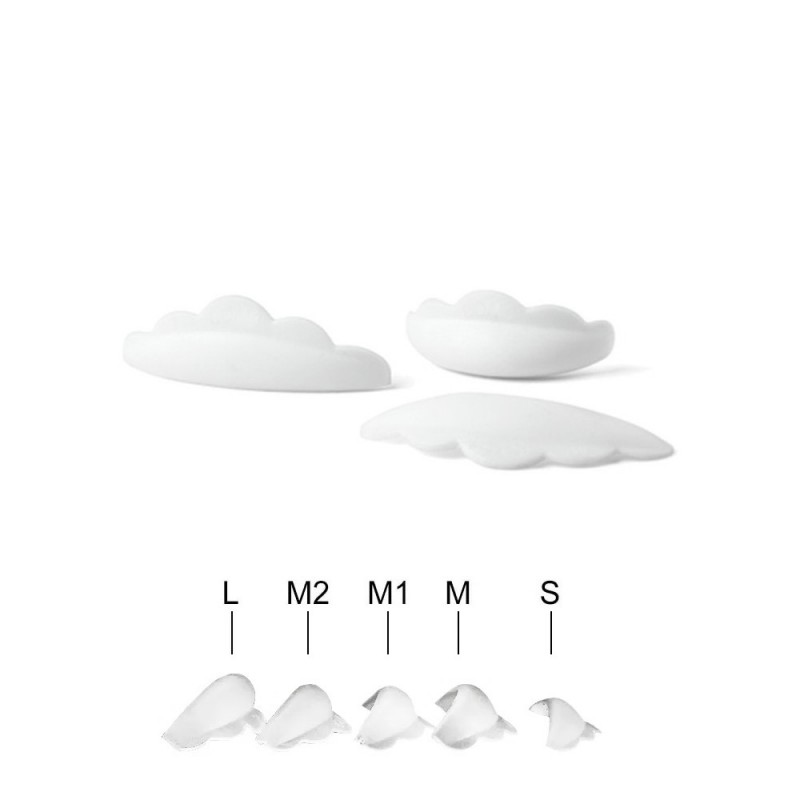 Silicone eyelash rods 5 Pair (S, M, M1, M2, L sizes)