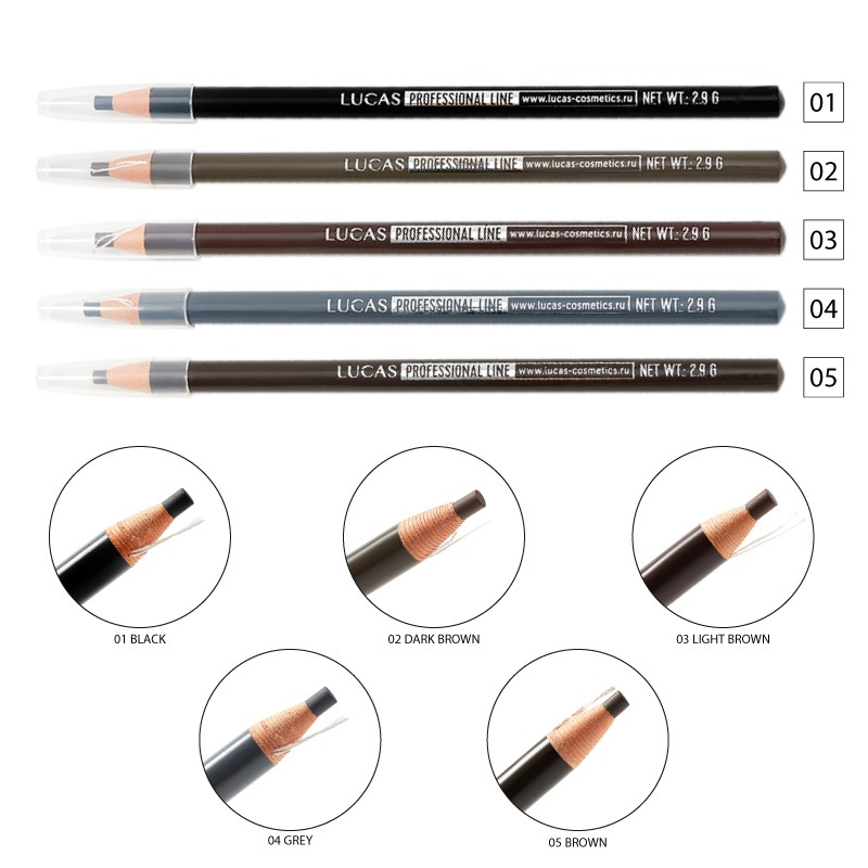 Lucas Cosmetics Long Lasting eyebrow pencil 1pcs.