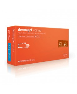 Dermagel coated latex protective gloves (S-L)
