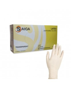 Disposable Latex Gloves (S - M) 50 pairs