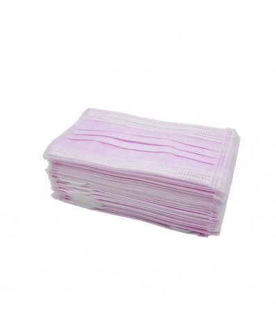 Disposable Face Mask 50pcs. (pink)
