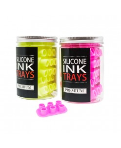 Premium silicone ink cups - trays (6 holes) 12 pcs.