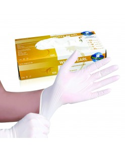 White Pearl Nitrile Gloves (XS - S -M)