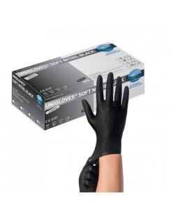 SOFT NITRIL BLACK Nitrile Gloves (S-M-L) (200 pcs.)