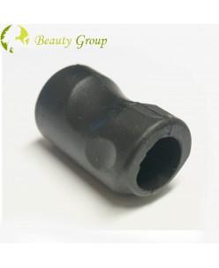 Black rubber holder