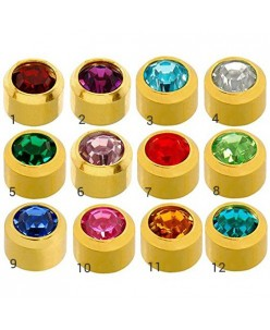 Caflon® MINI sterile colorful earrings (Gold Plated)